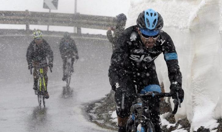 Il freddo inverno del ciclista